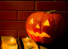 Halloween pumpkin Jack O'Lantern. Jack O'Lantern - a symbol of Halloween Royalty Free Stock Photo