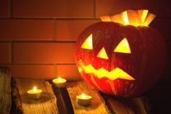 Halloween pumpkin. Jack O'Lantern - a symbol of Halloween Stock Images