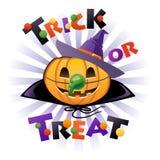 Halloween pumpkin Jack o lantern in wich costume Stock Photos