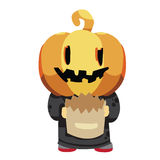 Halloween pumpkin kid Royalty Free Stock Photos