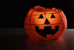 Halloween pumpkin. Lampion, black background Royalty Free Stock Photos