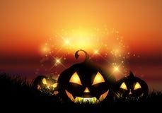 Halloween pumpkin landscape Royalty Free Stock Photos