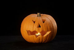 Halloween pumpkin lantern. Carved pumpkin lantern for the halloween festival/all hallows eve. Trick or treat jack-o-lantern Royalty Free Stock Image