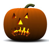 Halloween pumpkin lantern 3d Royalty Free Stock Images