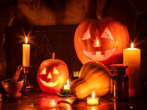 Halloween pumpkin lantern Royalty Free Stock Photos