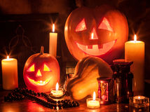 Halloween pumpkin lantern Royalty Free Stock Images