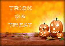 Halloween pumpkin lantern. Trick or treat Royalty Free Stock Photography