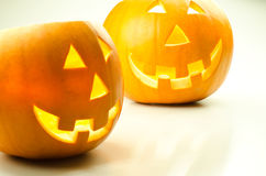 Halloween pumpkin lanterns Stock Image