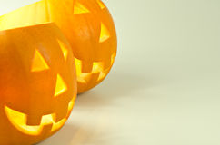 Halloween pumpkin lanterns Stock Photos