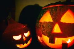 Halloween pumpkin lanterns Stock Photos