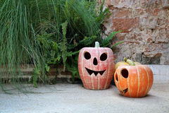 Halloween pumpkin lanterns Royalty Free Stock Photography