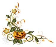 Halloween, pumpkin, leaves Royalty Free Stock Photography