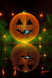 Halloween Pumpkin Light Painting Royalty Free Stock Photos