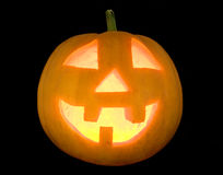 Halloween pumpkin lightened face Royalty Free Stock Photos