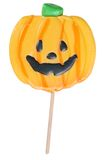 Halloween pumpkin lollipop Stock Image
