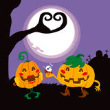 Halloween Pumpkin Lovers Royalty Free Stock Photography
