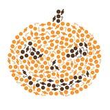 Halloween pumpkin made by candies Stock Photography