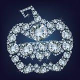Halloween Pumpkin made up a lot of diamonds Royalty Free Stock Image