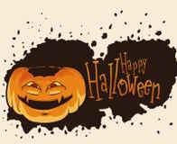 Halloween Pumpkin with Madness Face. Vector Illustration Stock Photos
