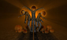 Halloween pumpkin man Royalty Free Stock Photos