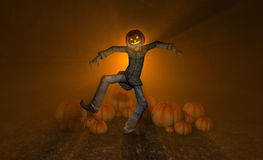 Halloween pumpkin man Stock Images