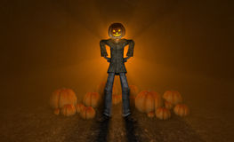 Halloween pumpkin man Stock Photography