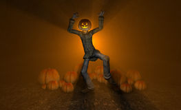 Halloween pumpkin man Royalty Free Stock Photography