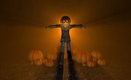 Halloween pumpkin man Stock Image
