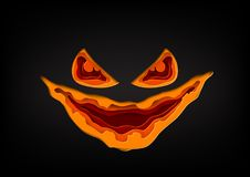 Halloween pumpkin mask paper art style Royalty Free Stock Photos
