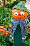 Halloween pumpkin. Merry Painted Halloween pumpkin with green hat Stock Images
