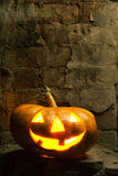 Halloween pumpkin in night Royalty Free Stock Photo