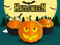 Halloween pumpkin ninja Royalty Free Stock Photo