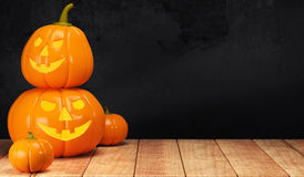Free Halloween Pumpkin On Wooden Table Royalty Free Stock Images - 78937639