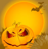 Halloween_pumpkin-orange Royalty Free Stock Photo