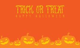 Halloween pumpkin with orange background. Vector illustration Stock Photos