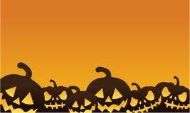 Halloween pumpkin orange backgrounds. Silhouette vector illustration Royalty Free Stock Photo