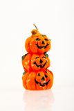 Halloween Pumpkin Orange Candle Royalty Free Stock Photos