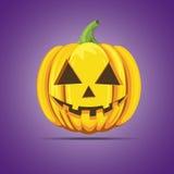Halloween pumpkin orange color vector isolated. Halloween pumpkin orange vector isolated on violet background Royalty Free Stock Photos