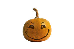 Halloween Pumpkin. Orange colour, smile and happy Stock Photos