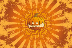 Halloween pumpkin with ornament Royalty Free Stock Image