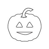 Halloween pumpkin. Outline- vector illustration Stock Photos