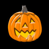Halloween Pumpkin over black Royalty Free Stock Photo