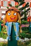 Halloween pumpkin. Painted evil pumpkin on Halloween Royalty Free Stock Image