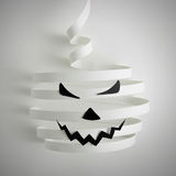 Halloween pumpkin with paper. Abstract halloween pumpkin with paper royalty free illustration