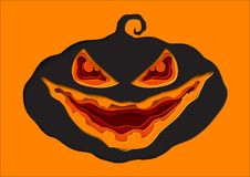 Halloween pumkin paper art style. Royalty Free Stock Photography