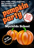 Halloween Pumpkin Party Flier Royalty Free Stock Image