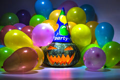 Halloween Pumpkin Party Stock Images