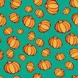 Halloween Pumpkin Party Pattern Stock Images