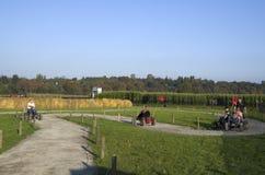 Halloween pumpkin patch farm activity stock images