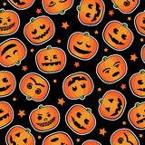 Halloween pumpkin pattern Royalty Free Stock Photos